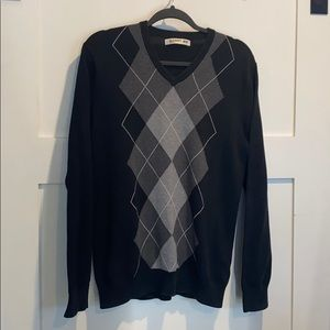 Men's Old Navy Checkered V-Neck Sweater